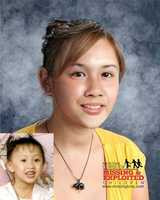 Kristina has been missing since April 18, 2002. The larger image is a composite of what Kristina could potentially look like at age 14.
