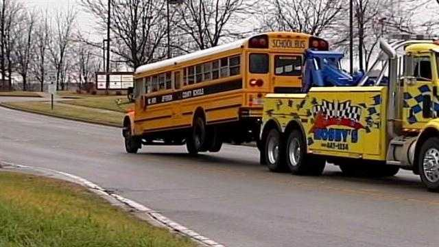 18 students taken to hospitals after bus ends up in ditch