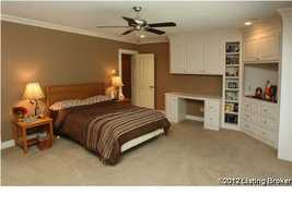 This one of six bedrooms in the home. By the way, three are upstairs in addition to a sitting area on the second floor.