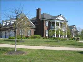 The home is over 8,000 square feet and sits on a five acre property.