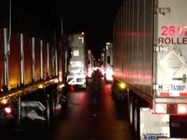 Interstate 65 was backed up for miles after a crash near Elizabethtown Friday morning.