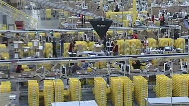It's a big day for southern Indiana as Amazon's newest and biggest fulfillment center has its grand opening.