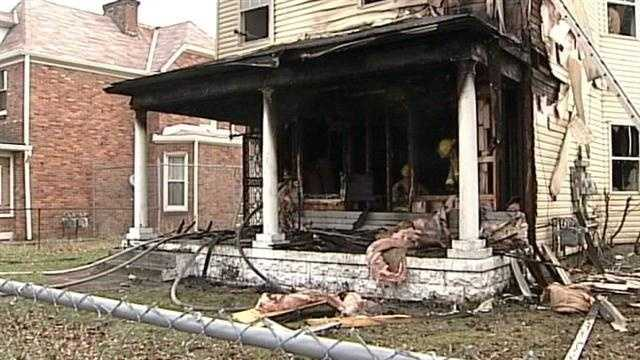 6 people escape after house catches fire