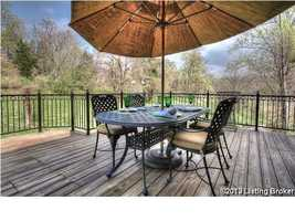 Exquisite views from the backyard deck. For more information on this home visit Realtor.com.