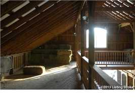 Second floor of the stable.