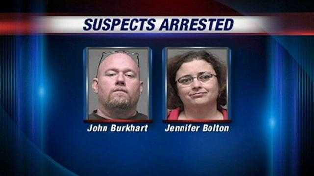 Police say two people were arrested in connection with burglaries in the Saint Matthews area.