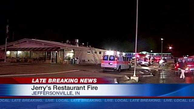 Jerry's restaurant catches fire 6