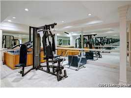 Home gym with its own spa to relax your muscles after a hard workout.