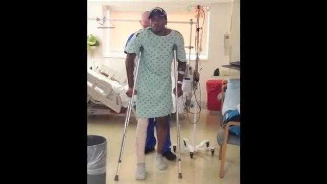 ware on crutches