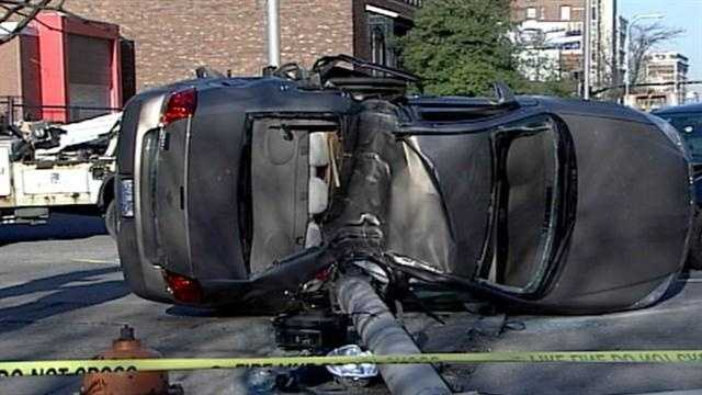 One of the drivers was taken to University Hospital with non-life-threatening injuries.