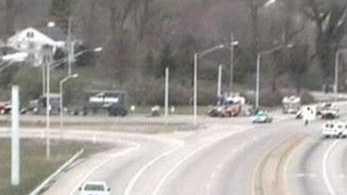 I-264 semi overturns