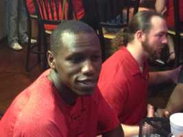 Gorgui Dieng was spotted watching the game in Louisville with Cards fans.