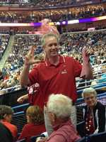 Louisville Mayor Greg Fischer was in New Orleans to support the Lady Cards.