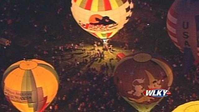 Raw aerials: Balloons light up night sky