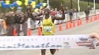 mini marathon runner