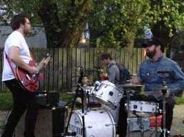 Discount Guns performed at the LEAF festival, which promotes making small, everyday changes to help the environment.