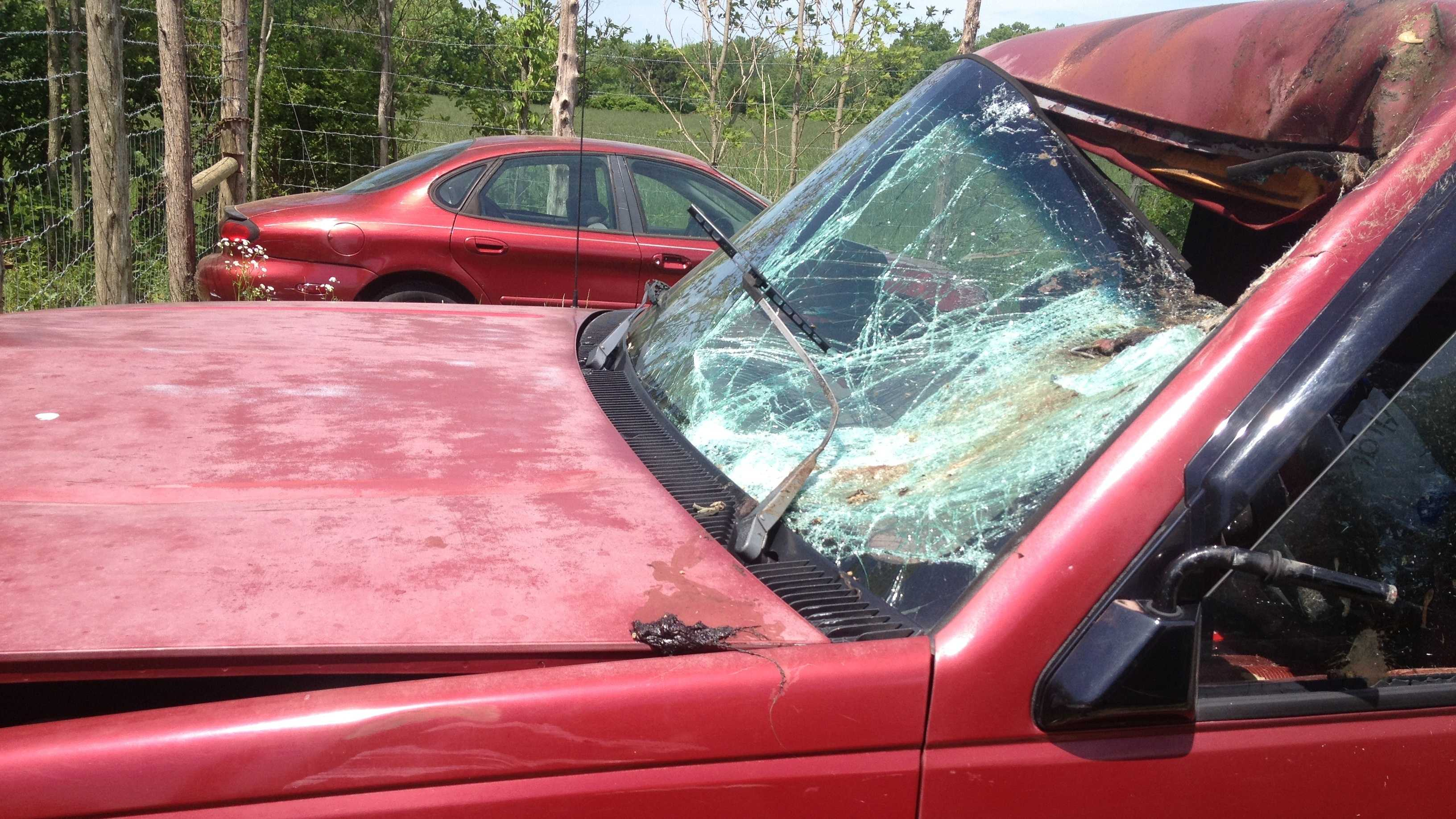A Washington County, Ind., man died in a bizarre car accident.