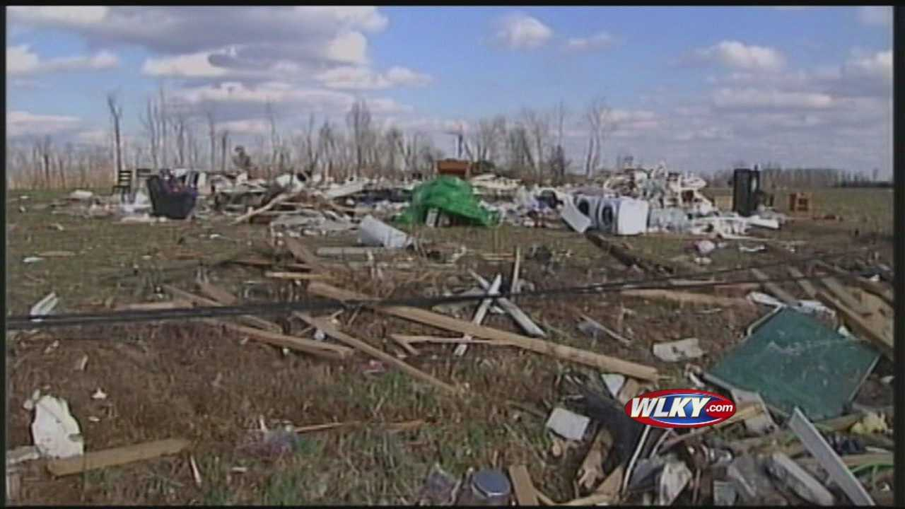 The devastation in Oklahoma is very similar to what Henryville, Ind., endured just last year.