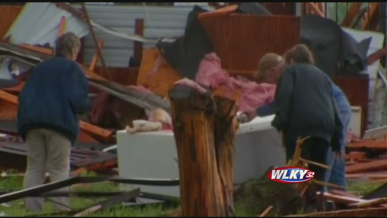 Community helps tornado victims