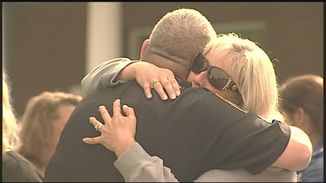Residents grieve fallen officer