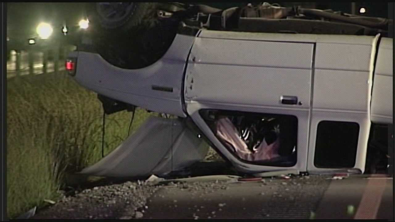 One person was killed when a vehicle going the wrong way on the Gene Snyder Freeway struck another vehicle head on.