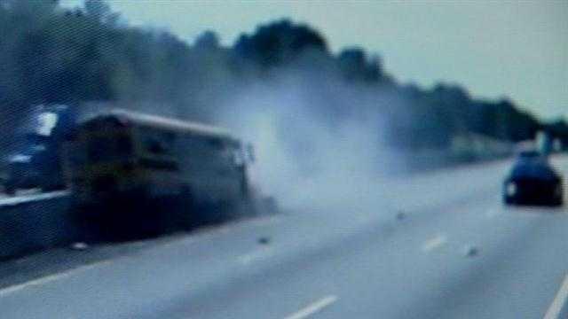 Caught on camera: Bus crash on I-64