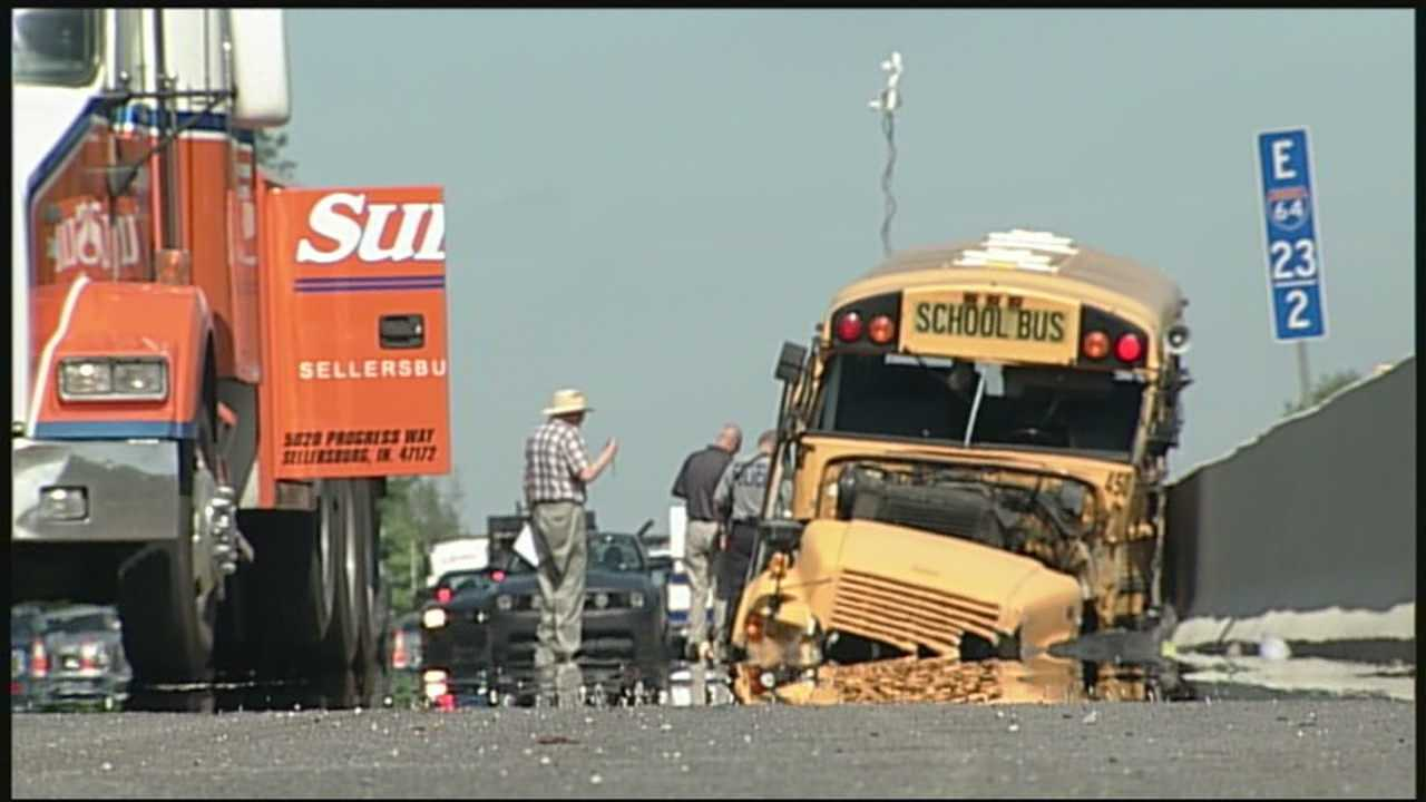 Students injured in bus crash on the way home from college trip