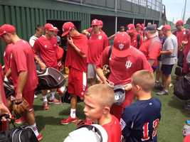 The team also had a visit from the Bedford, Ind., 10-year-old Allstars