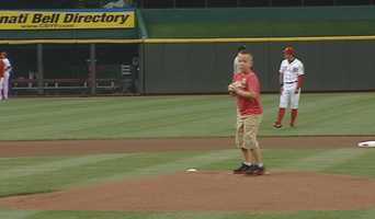 June 19, 2013:  Ellis' 8-year-old took the mound inside Great American Ballpark to throw out the first pitch in front of thousands of fans to honor his fallen father.