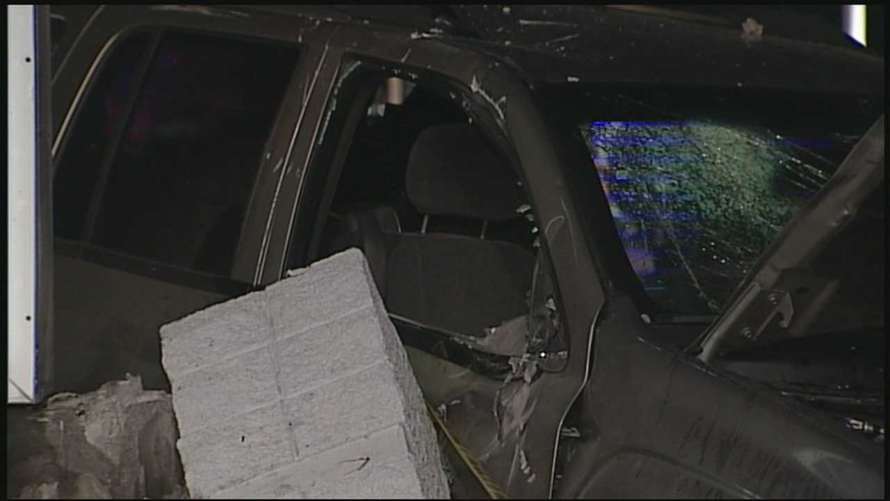 Gas station employee springs into action after crash