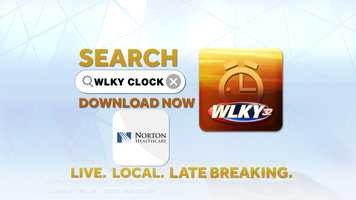 """Search """"WLKY Clock"""" in your app store or click here for iPhone or here for Android to download the free app!  iTunes 