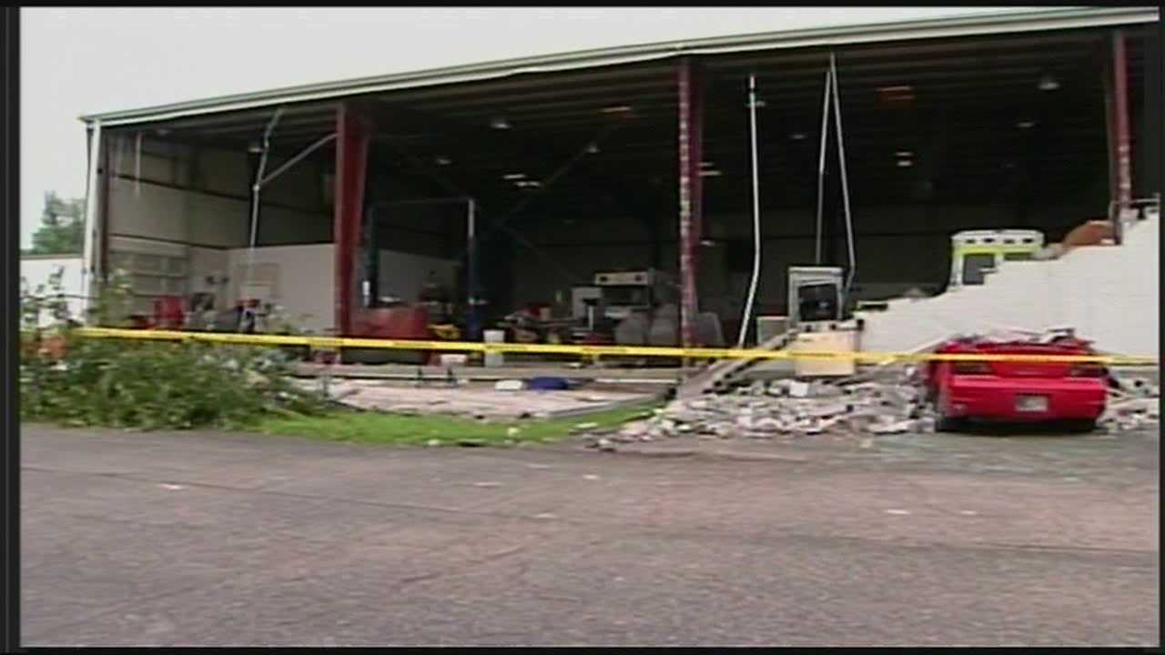 Cleanup continues at ambulance headquarters after wall collapse