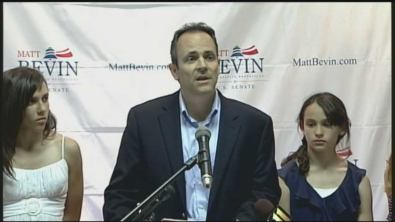 Newcomer Bevin, McConnell engage in war of words