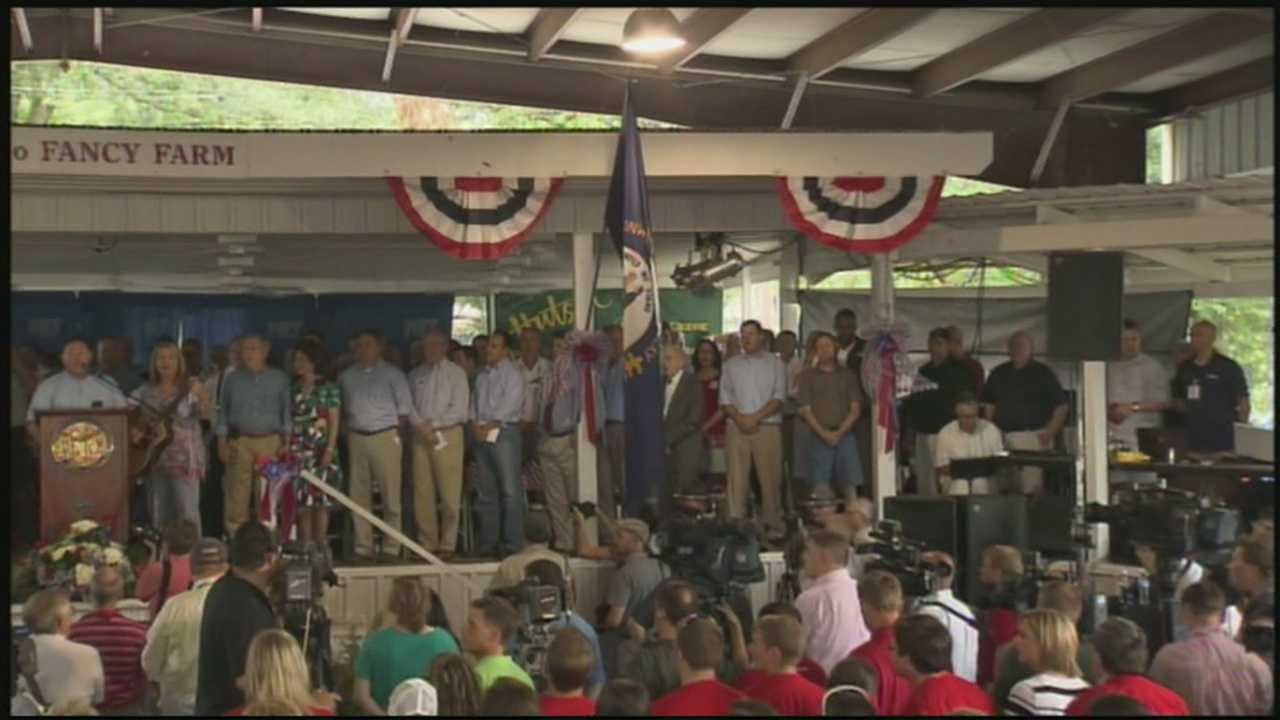 Candidates stump for votes at Fancy Farm Picnic