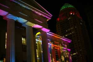 Light Up Louisville: A nightly light show for 40 days... the lights are synchronized with the music throughout the downtown area of Louisville. Quite a site to see!For more information:http://www.louisvilleky.gov/events/light_up_louisville/