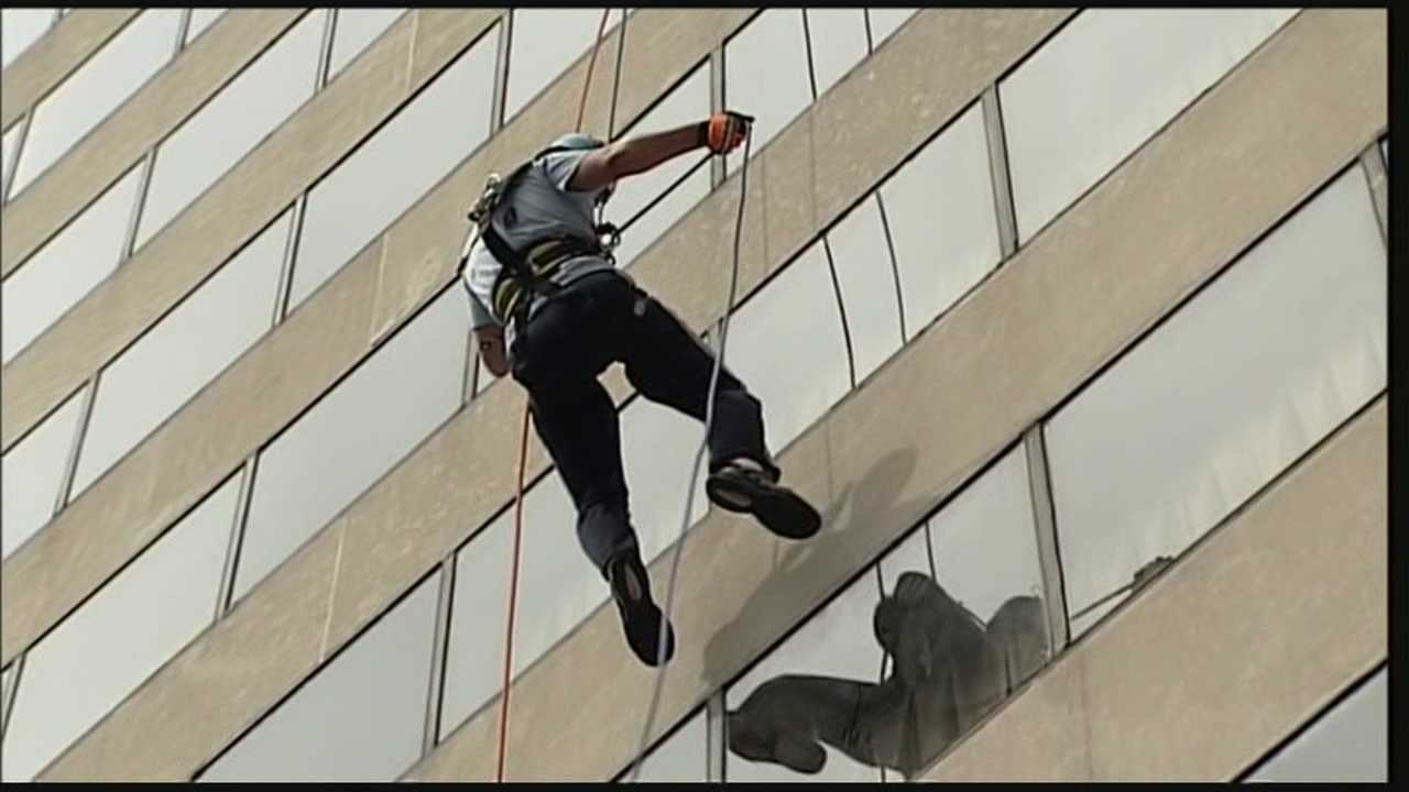 "Local celebrities will be going ""Over the Edge,"" literally, as part of a fundraising event."