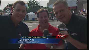 There was talk of a concert during Thursday's newscast at the Kentucky State Fair. In case you missed it, Jay Cardosi was trying to get Vicki Dortch to show off her singing talents.