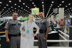 Even the Kentucky State Police officers wanted to pose with Ellen