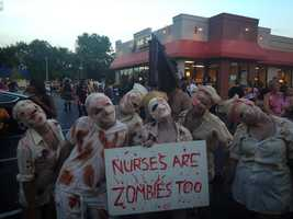 Zombies took over the Highlands for the annual Zombie Walk.Photo courtesy of Erran Huber