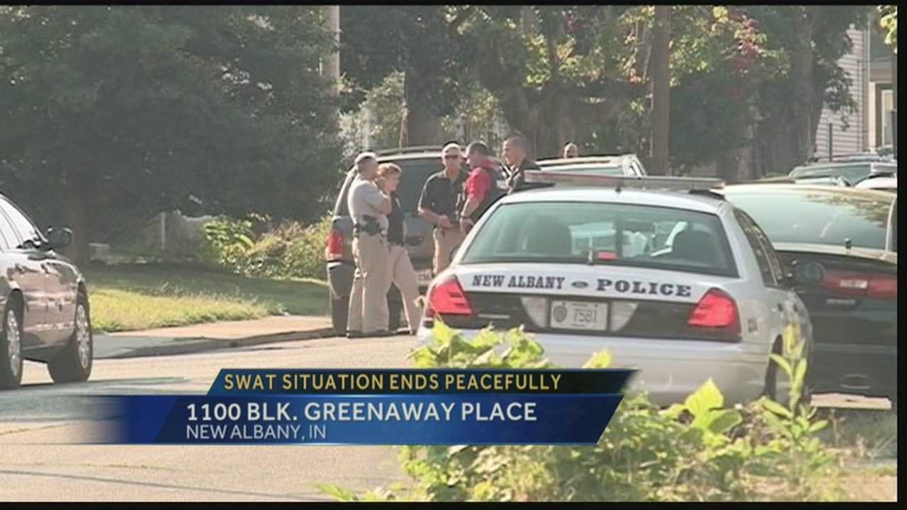 A SWAT situation ended peacefully Friday morning in New Albany.