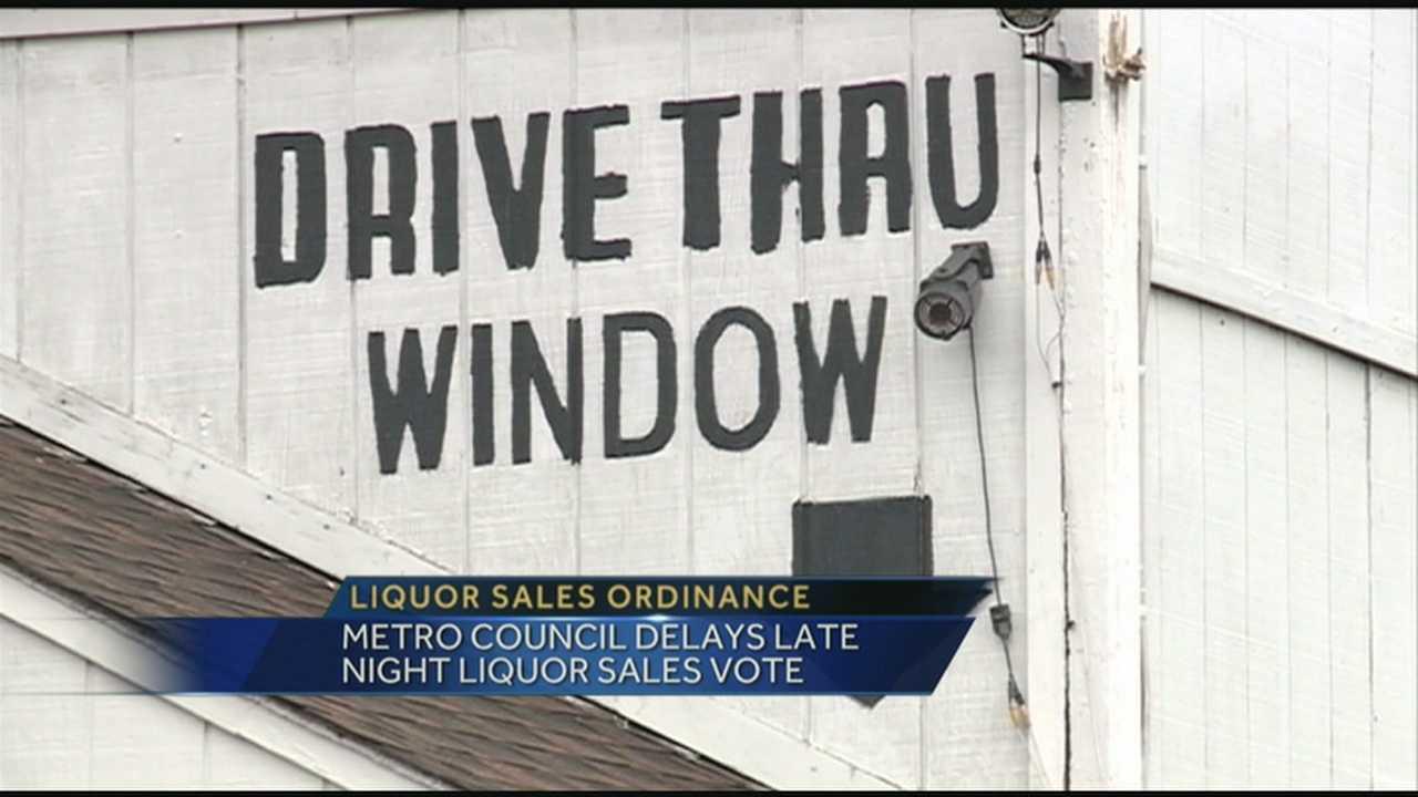 Metro Council delays liquor sales vote