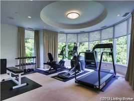 State-of-the-art home gym.
