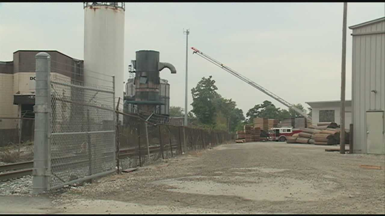 People in west Louisville were shaken up Monday morning by an explosion and fire at a nearby wood-processing plant.
