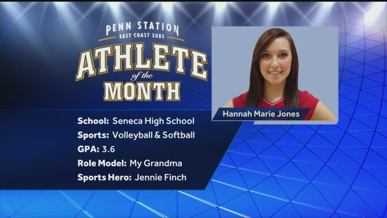 For the very first Penn Station Athlete of the Month award, WLKY headed to Seneca High School to honor senior Hannah Marie Jones.