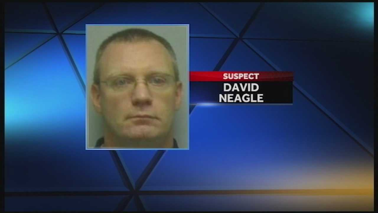 A Louisville man is accused of downloading and distributing child pornography, sometimes while a young relative was in the room.