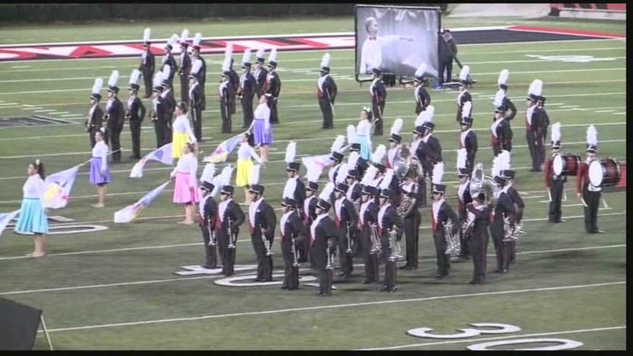 The best high school marching bands in the state showed off their skills at a statewide competition Saturday.