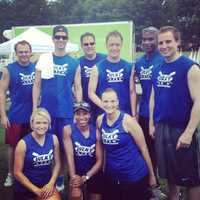 The WLKY crew team at the Dare to Care charity rowing event