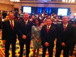 Ann and the auctioneers while emceeing the Make a Wish Foundation gala
