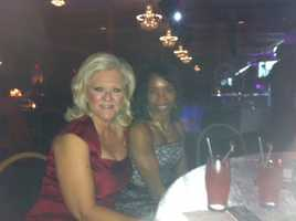 Ann and WLKY Program and Community Affairs Coordinator Debbie Roberson at a Derby Gala event