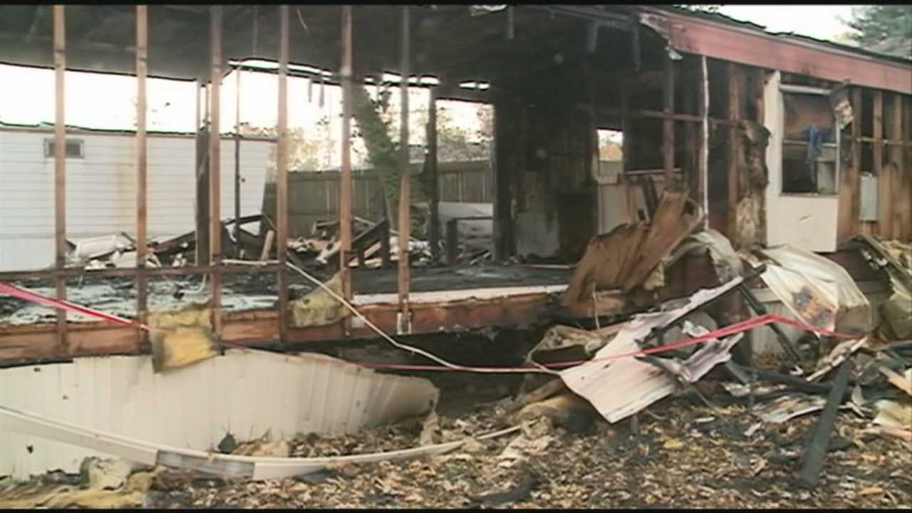 Louisville mobile home fire